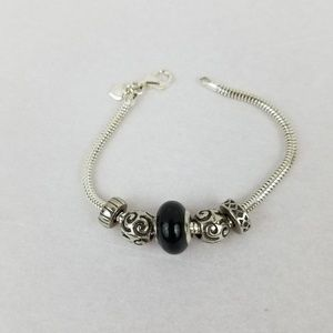 Jewelry - Stamped MA Italy Sterling SILVER Murano Bracelet